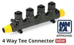 4 way tee connector