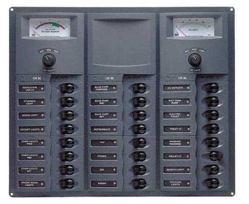 BEP 12v Dc Circuit Breaker Panel 24 Way Square A/log Meter (905-AM) BEP 12v Dc Circuit Breaker Panel 24 Way Square A/log Meter (905-AM) Thailand