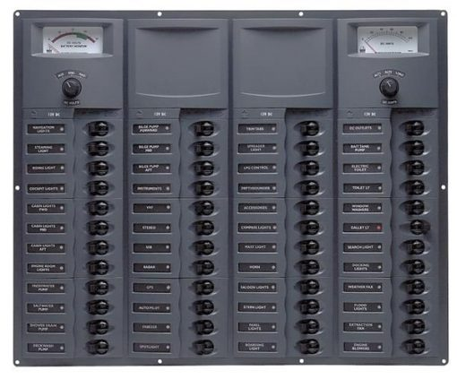 BEP 12v Dc Circuit Breaker Panel 48 Way Square A/log Meter (907-AM) BEP 12v Dc Circuit Breaker Panel 48 Way Square A/log Meter (907-AM) Thailand