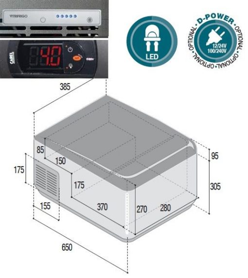41Ltr Portable refrigerator with led thermostat-12/24V 41Ltr Portable refrigerator with led thermostat-12/24V Thailand