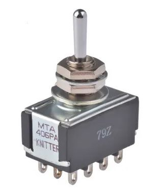 Micro-SWITCH Four Pole Double Throw (4PDT) Toggle Switch, On-On, Panel Mount Micro-SWITCH Four Pole Double Throw (4PDT) Toggle Switch, On-On, Panel Mount Thailand