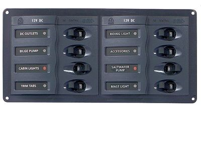 BEP 901H Circuit Breaker Panel 8-Way 12v Horizontal BEP 901H Circuit Breaker Panel 8-Way 12v Horizontal Thailand