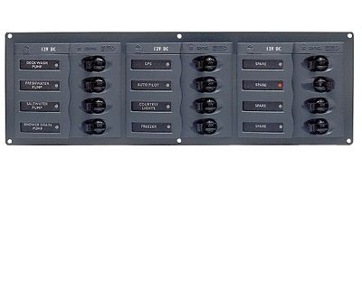 BEP 902NMH Circuit Breaker Panel 12-Way 12v Horizontal BEP 902NMH Circuit Breaker Panel 12-Way 12v Horizontal Thailand