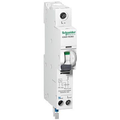 iC60H - earth leakage circuit breaker - 1P + N - C curve - 40 A - 30 mA - 240 V iC60H - earth leakage circuit breaker - 1P + N - C curve - 40 A - 30 mA - 240 V Thailand