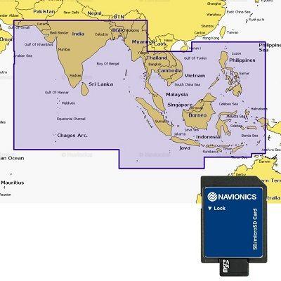 Navionics Indian Ocean & South China Sea MSD/NAV+3 Navionics Indian Ocean & South China Sea MSD/NAV+3 Thailand