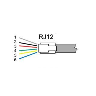 RJ12 UTP Cable 1'8 m RJ12 UTP Cable 1'8 m Thailand