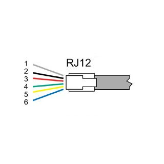 RJ12 UTP Cable 0'9 m RJ12 UTP Cable 0'9 m Thailand