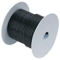 Tinned Copper Wire, 6 AWG (13mm2), Black -250ft Tinned Copper Wire, 6 AWG (13mm2), Black -250ft Thailand