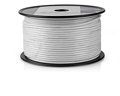 Coaxial Cable, RG 58CU, White - 250ft Coaxial Cable, RG 58CU, White - 250ft Thailand