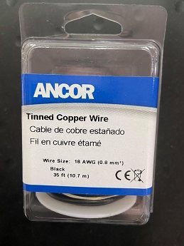 Tinned Copper Wire, 18 AWG (0.8mm2),Black-35ft Tinned Copper Wire, 18 AWG (0.8mm2),Black-35ft Thailand