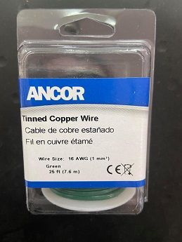 Tinned Copper Wire, 16 AWG (1mm2), Green - 25ft Tinned Copper Wire, 16 AWG (1mm2), Green - 25ft Thailand