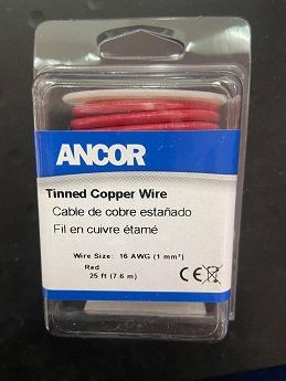 Tinned Copper Wire, 16 AWG (1mm2), Red - 25ft Tinned Copper Wire, 16 AWG (1mm2), Red - 25ft Thailand