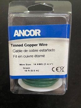 Tinned Copper Wire, 14 AWG (2mm2), Green - 18ft Tinned Copper Wire, 14 AWG (2mm2), Green - 18ft Thailand