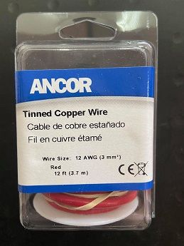 Tinned Copper Wire, 12 AWG (3mm2), Red - 12ft Tinned Copper Wire, 12 AWG (3mm2), Red - 12ft Thailand