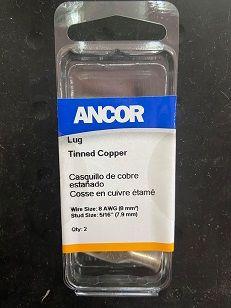 "Tinned Lug #8 5/16"", 2pc Tinned Lug #8 5/16"", 2pc Thailand"