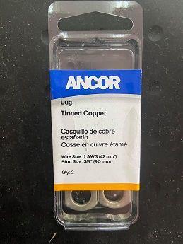 "Tinned Lug #1 3/8"", 2pc Tinned Lug #1 3/8"", 2pc Thailand"