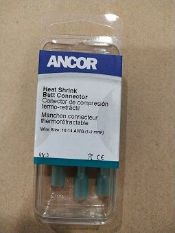 Heat Shrink Butt Connector, 16-14, 3pc Heat Shrink Butt Connector, 16-14, 3pc Thailand