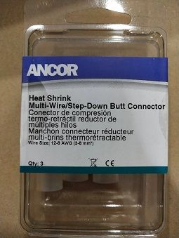 Heat Shrink Butt Connector, Step-Down, 12-10/12-8, 3pc Heat Shrink Butt Connector, Step-Down, 12-10/12-8, 3pc Thailand