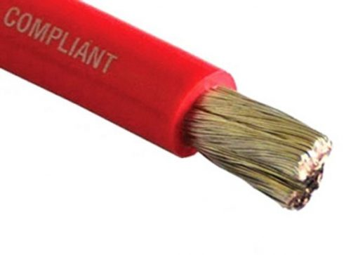 Tinned Copper Battery Cable, 3/0 AWG (81mm2), Red- 100ft Tinned Copper Battery Cable, 3/0 AWG (81mm2), Red- 100ft Thailand