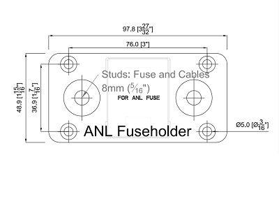 Fuse Holder  ANL up to 300Amp fuse  MC5 Fuse Holder  ANL up to 300Amp fuse  MC5 Thailand