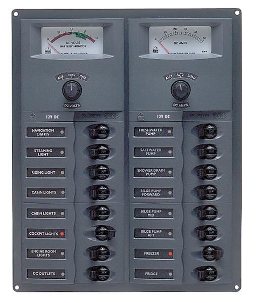 BEP 12v Dc Circuit Breaker Panel 16 Way Vert A/log Meter (904-AM) BEP 12v Dc Circuit Breaker Panel 16 Way Vert A/log Meter (904-AM) Thailand