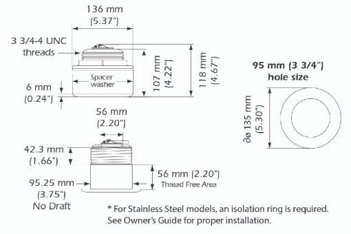 B175H Bronze Low Profile 1000W D/T Through Hull Transducer 0° Angle B175H Bronze Low Profile 1000W D/T Through Hull Transducer 0° Angle Thailand