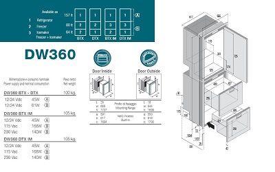 157+144Ltr Single door refrigerator + double drawer freezer-freezer -12/24V-Comp/Unit Int 157+144Ltr Single door refrigerator + double drawer freezer-freezer -12/24V-Comp/Unit Int Thailand