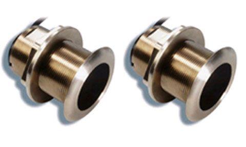 B175 Depth & Temperature Bronze Low Profile Through Hull Transducer pair 20 deg - Low & High B175 Depth & Temperature Bronze Low Profile Through Hull Transducer pair 20 deg - Low & High Thailand