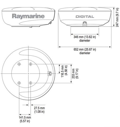 """4kW 24"""" (608mm) HD Color Radome + 10m Raynet Cable 4kW 24"""" (608mm) HD Color Radome + 10m Raynet Cable Thailand"""