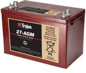 Trojan 27-AGM 12 Volt, 89 AH Deep Cycle AGM Battery Trojan 27-AGM 12 Volt, 89 AH Deep Cycle AGM Battery Thailand