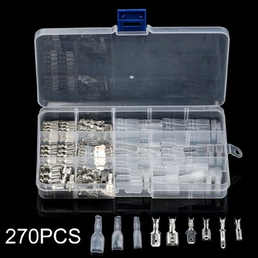 270Pcs Electrical Wire Crimp Terminal Connector Kit Male Female Spade Assorted 270Pcs Electrical Wire Crimp Terminal Connector Kit Male Female Spade Assorted Thailand